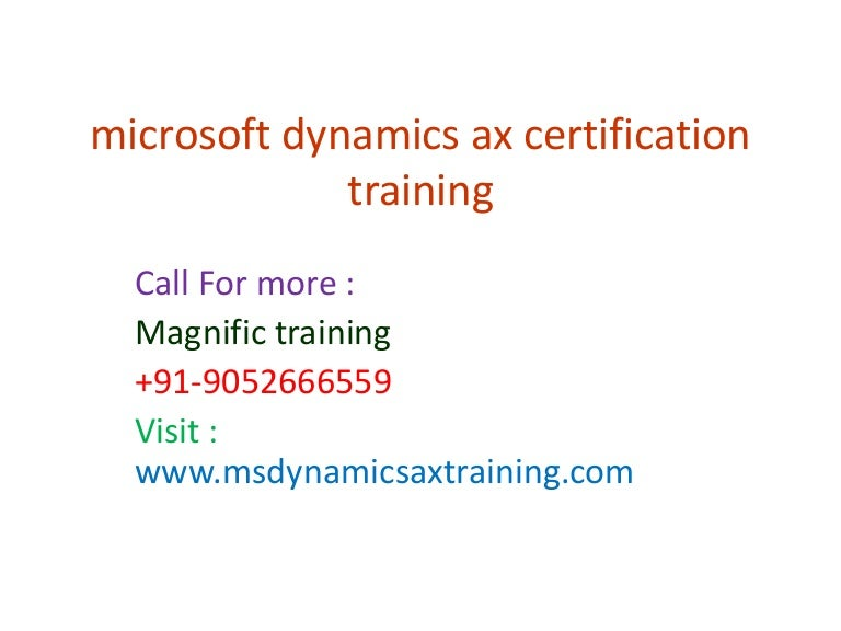 Microsoft Dynamics Ax Certification Training Magnific Training