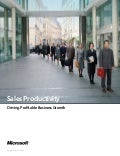 Microsoft Dynamics CRM -  Solution Brief For A Sales Executive