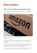 Why are we shorting Amazon stock again?