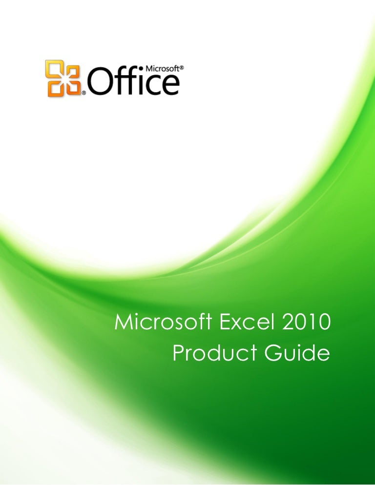 microsoft excel 2010 product guide final rh slideshare net manual for excel 2013 pdf manual excel 2010 basico