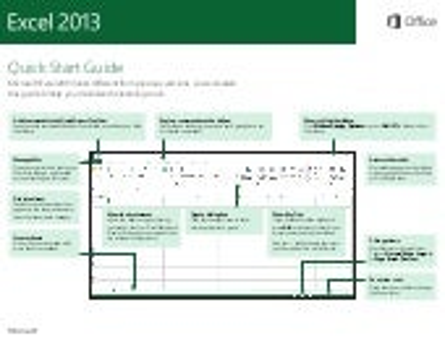 Microsoft excel 2013 Quickstart