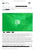 Microsoft excel 2016 advanced training - Adams Academy