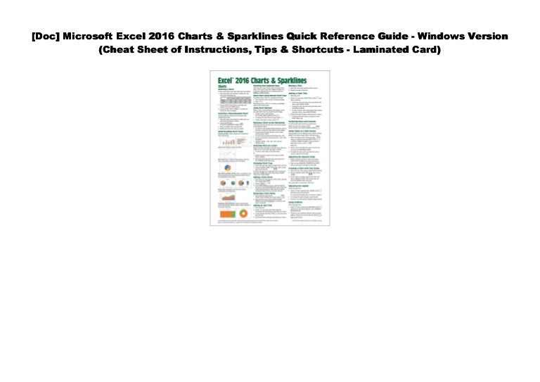 [#PDF~] Microsoft Excel 2016 Charts & Sparklines Quick