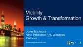 Mobility growth & transformation: Microsoft presentation at TabTimes Tablet Strategy 2014