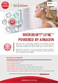 Microsoft Lync Powered by Arkadin Service Sheet