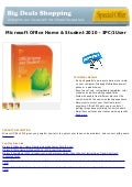 Microsoft office home & student 2010   3 pc 1user