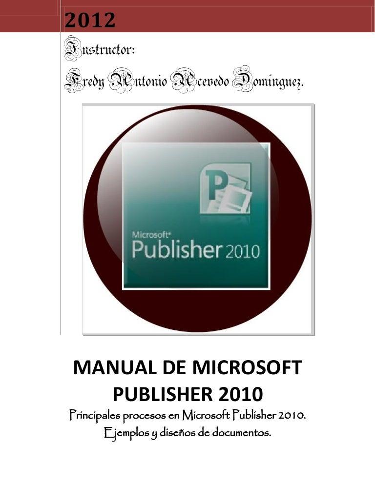 Microsoft office publisher 2010