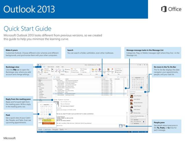 Microsoft Outlook 2013 Quickstart
