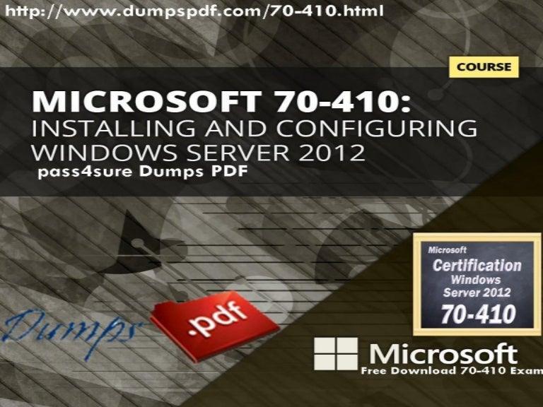 Pass4sure 70 410 Pdf Dumps