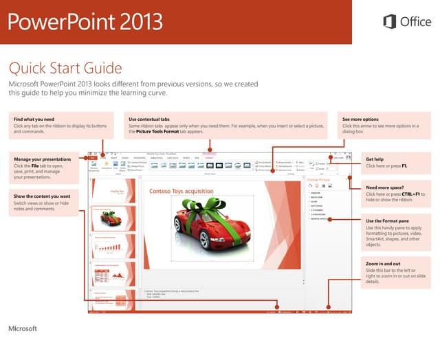 Microsoft PowerPoint 2013 Quickstart