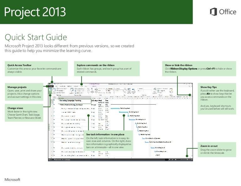 microsoft project 2013 quickstart rh slideshare net ms project user guide 2013 ms project 2013 user guide pdf
