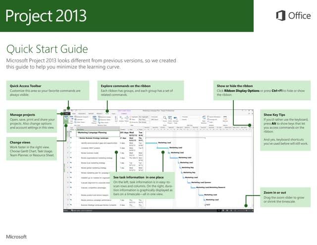 Microsoft Project 2013 Quickstart