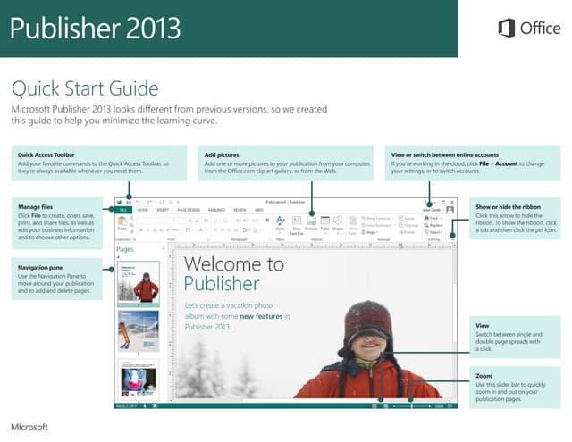Microsoft Publisher 2013 Quickstart