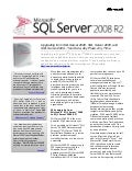 Microsoft SQL Server 2008 R2 - Why Upgrade to SQL Server R2 Whitepaper