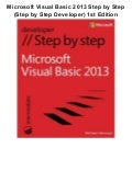 Microsoft visual basic 2013 step by step (step by step developer) 1st edition pdf ebook full free