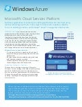 Microsoft Windows Azure - Cloud Services Platform Datasheet