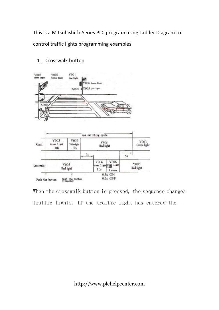 Mitsubishi Fx Plc Crosswalk Programming Ladder Diagram