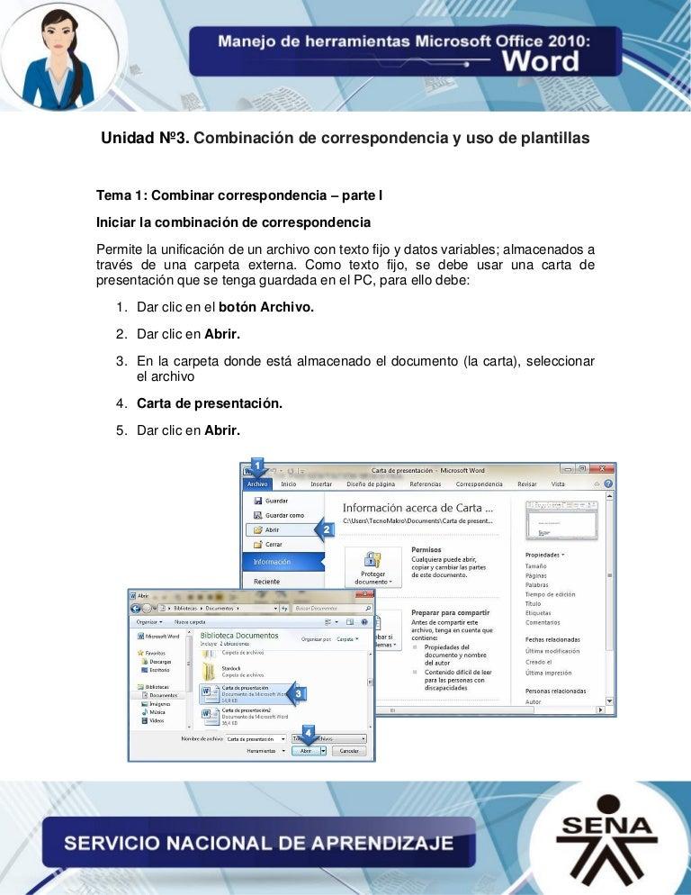 Microsoft word unidad 3