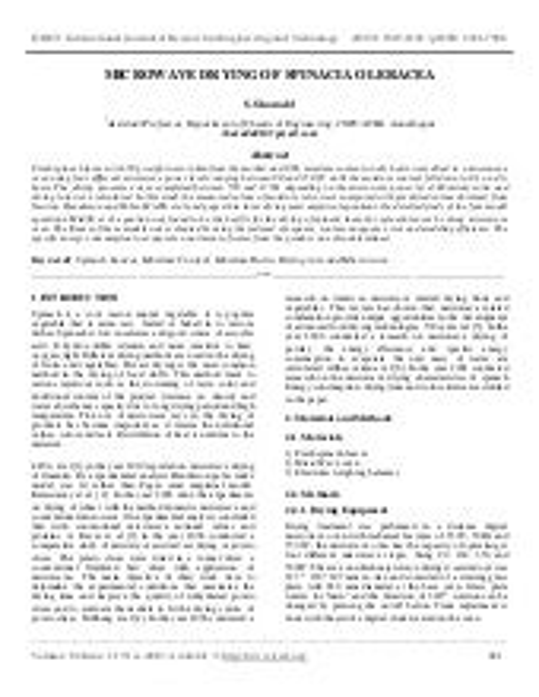 Moringa processing study
