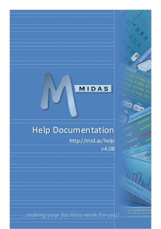 midas web based room resource scheduling software user manual