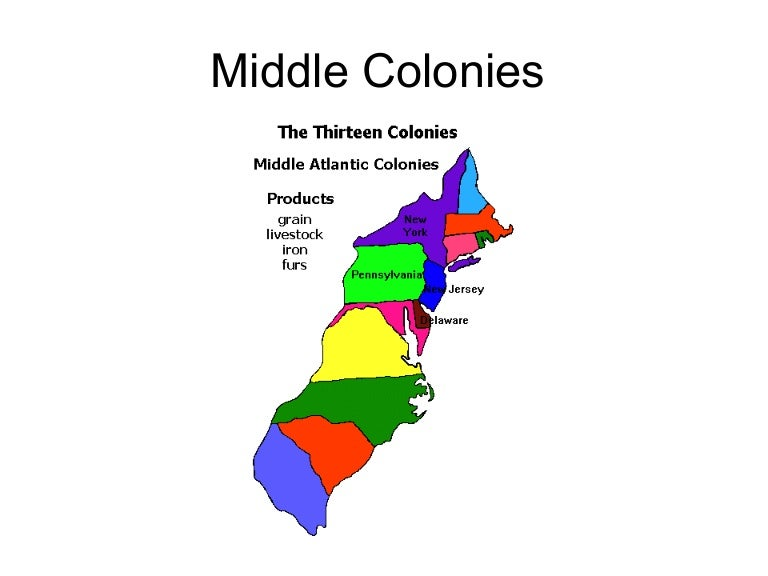 4 middle section colonies