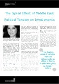 The Spiral Effect of Middle East Political Tension on Investments: Interview with: Gina Sanchez - Middle East Investments Summit