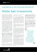 Capitalising on the Growing Potential for Middle East Investments - News Release - Middle East Investments Summit