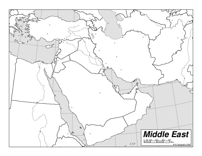Blank Outline Map Of Middle East Countries My Blog - Middle east outline map