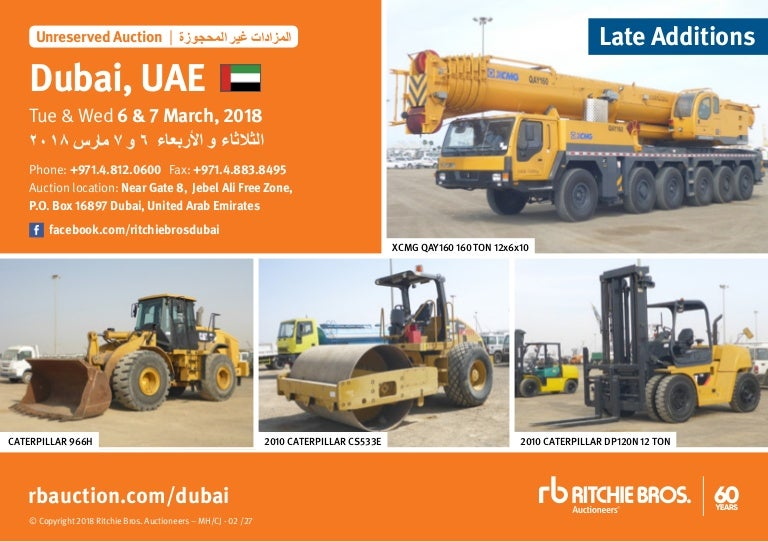 Middle east Ritchie Bros machinery and transport auction 6 7th of mar…