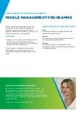 Brochure Middle management programme