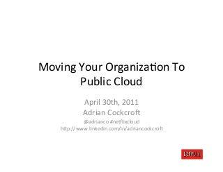 Migrating to Public Cloud