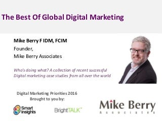 Marketing Case Studies, Online Marketing Real World
