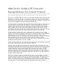 Mike dastic   analysis of consumer buying behavior