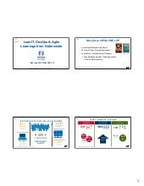 Lean IT, DevOps & Agile – Learnings from Nationwide, Mike Orzen