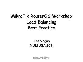 Mikrotik load balansing