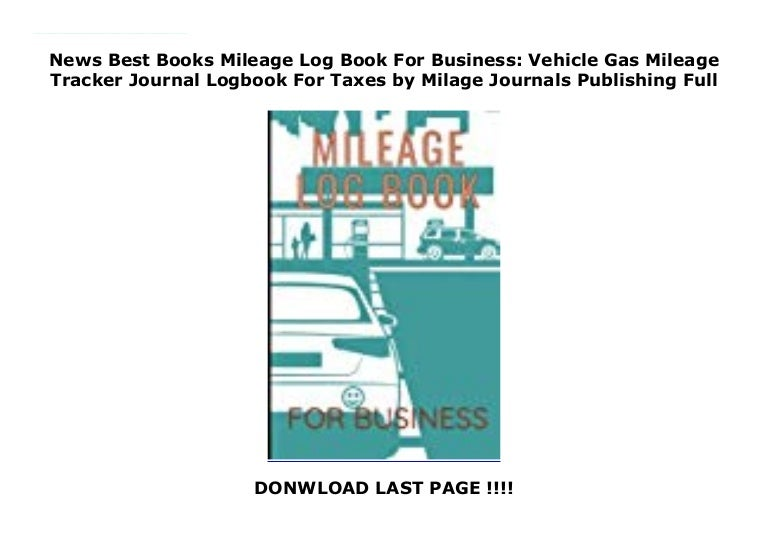 News Best Books Mileage Log Book For Business Vehicle Gas Mileage T