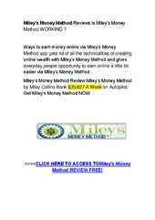 Miley's money method by Miley Collins -  binary options trading signals
