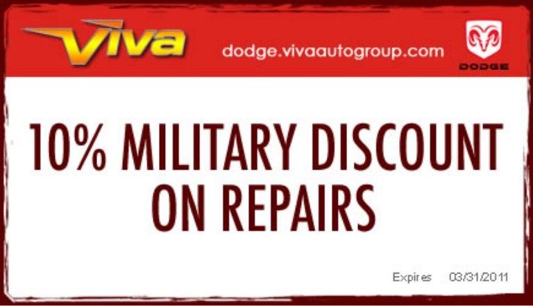 viva dodge el paso coupons Military Discount – Viva Dodge Chrysler Jeep El Paso TX