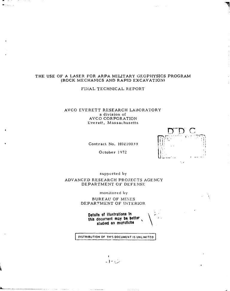 Military Geophysics Program on