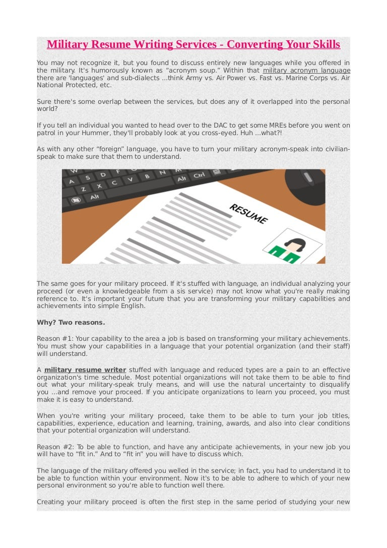 military resume writing services converting your skills