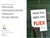 Political communication through social media
