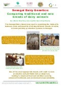 Senegal dairy genetics: Comparing traditional and new breeds of dairy animals