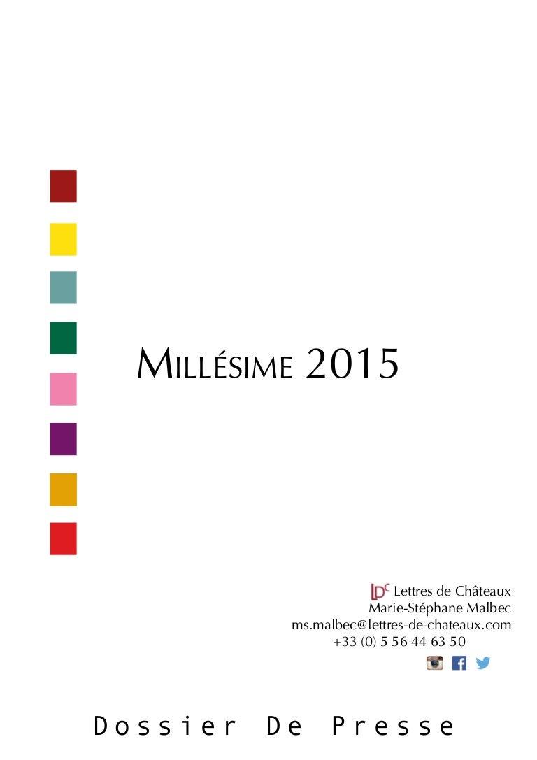 Millesimes 2015
