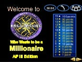 Kabihasnan sa Amerika (Powerpoint Game - Who Wants To Be A Millionaire)