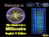 Verb Tenses (Powerpoint Game - Who Wants To Be A Millionaire)