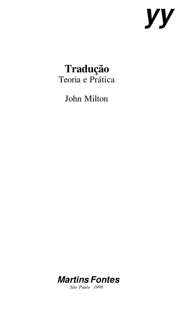 Traduo teoria e prtica de john milton fandeluxe Choice Image