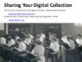 Sharing Your Digital Collection