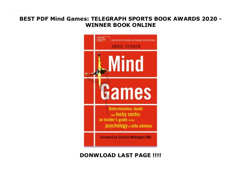 Free BEST PDF Mind Games: TELEGRAPH SPORTS BOOK AWARDS 2020 – WINNER [DOWNLOAD] ONLINE