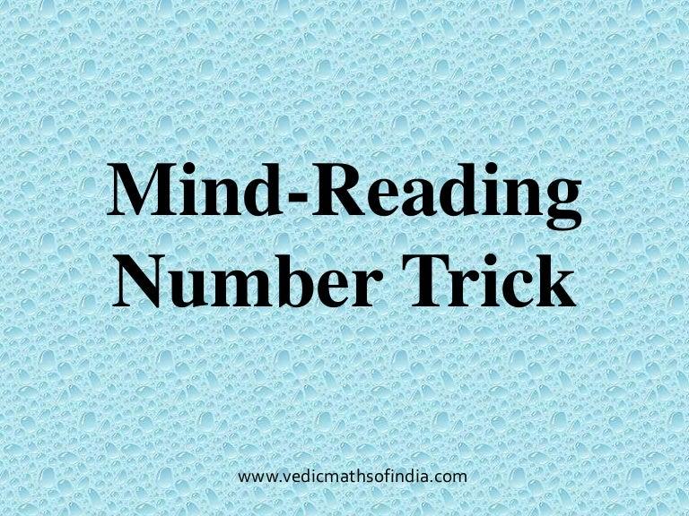 Printables Mind-readingnumbertrick — Mathfunfacts mind reading number trick