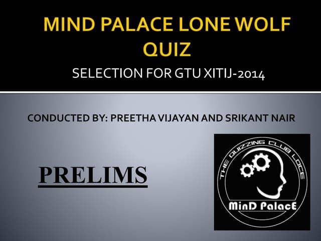 Mind Palace Lone Wolf quiz